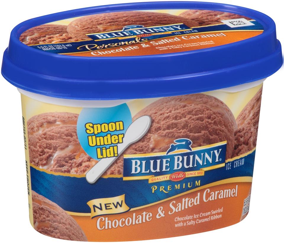 Chocolate Moose Tracks Ice Cream Blue Bunny Ice Cream Chocolate Amp Salted Carmel 5 5 fl oz