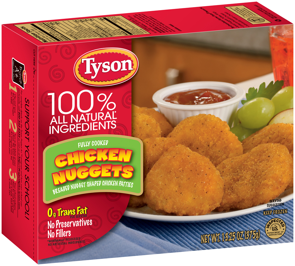 ewg's food scores | tyson fully cooked chicken nuggets breaded