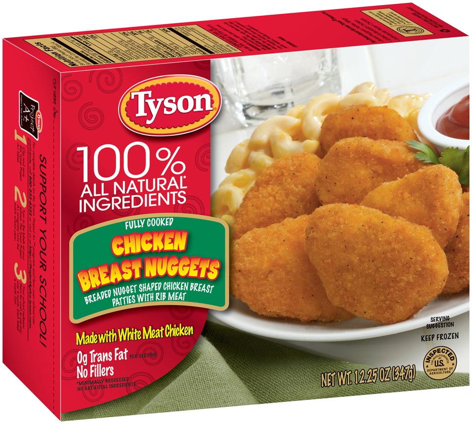 ewg's food scores | tyson breast nuggets breaded nugget shaped