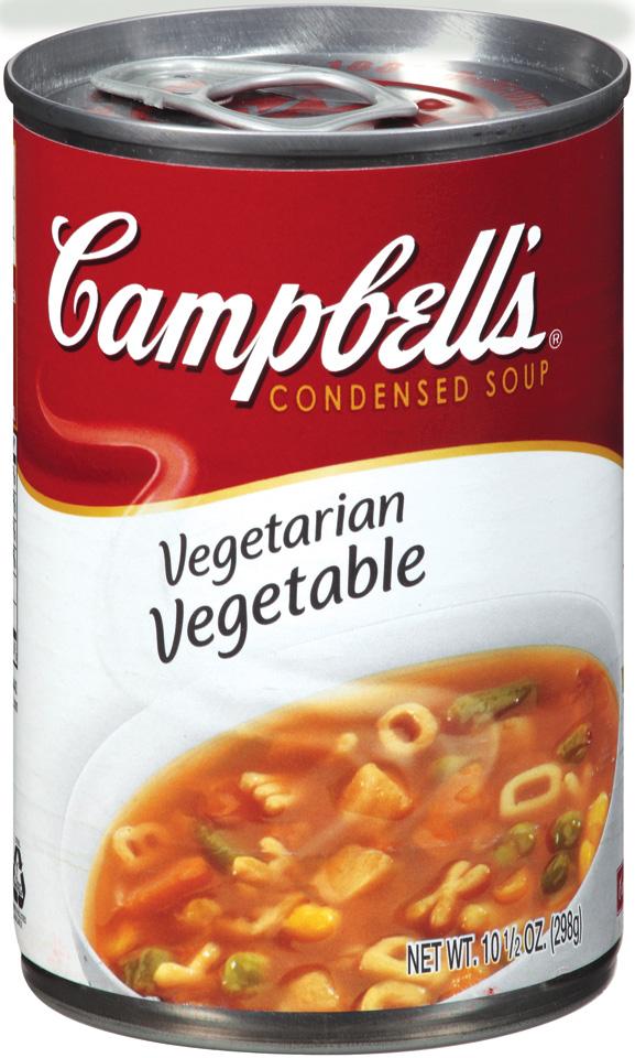 Campbell Vegetarian Vegetable Soup Ingredients