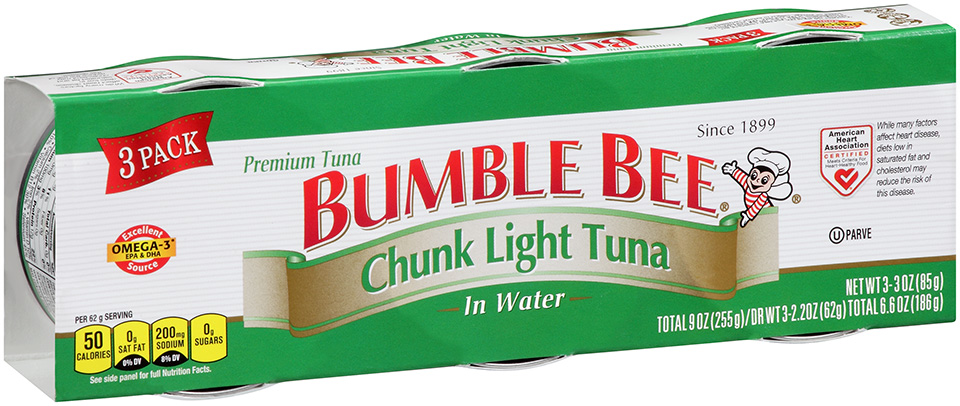 bumble bee chunk light tuna in water 9 oz. Black Bedroom Furniture Sets. Home Design Ideas
