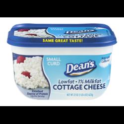 Deans 1 Milkfat Cottage Cheese 22 Oz