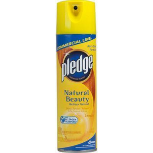 Pledge Commercial Line Furniture Spray, Lemon Clean