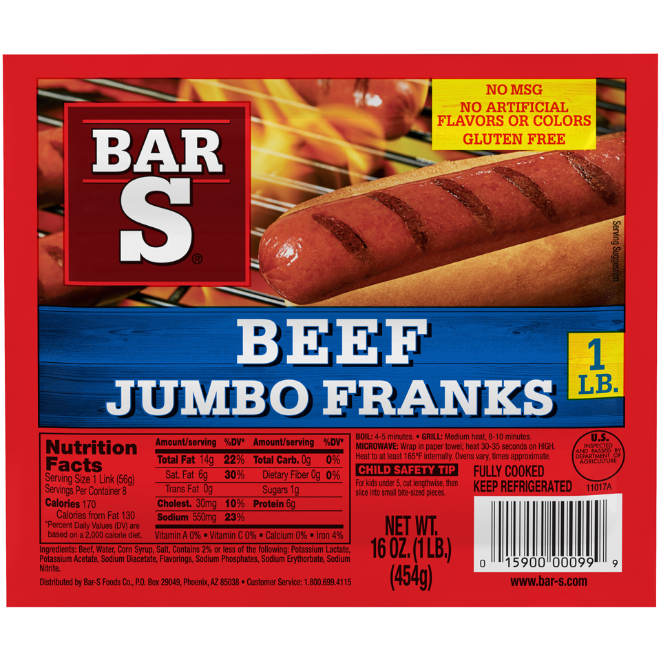are bar s beef hot dogs gluten free