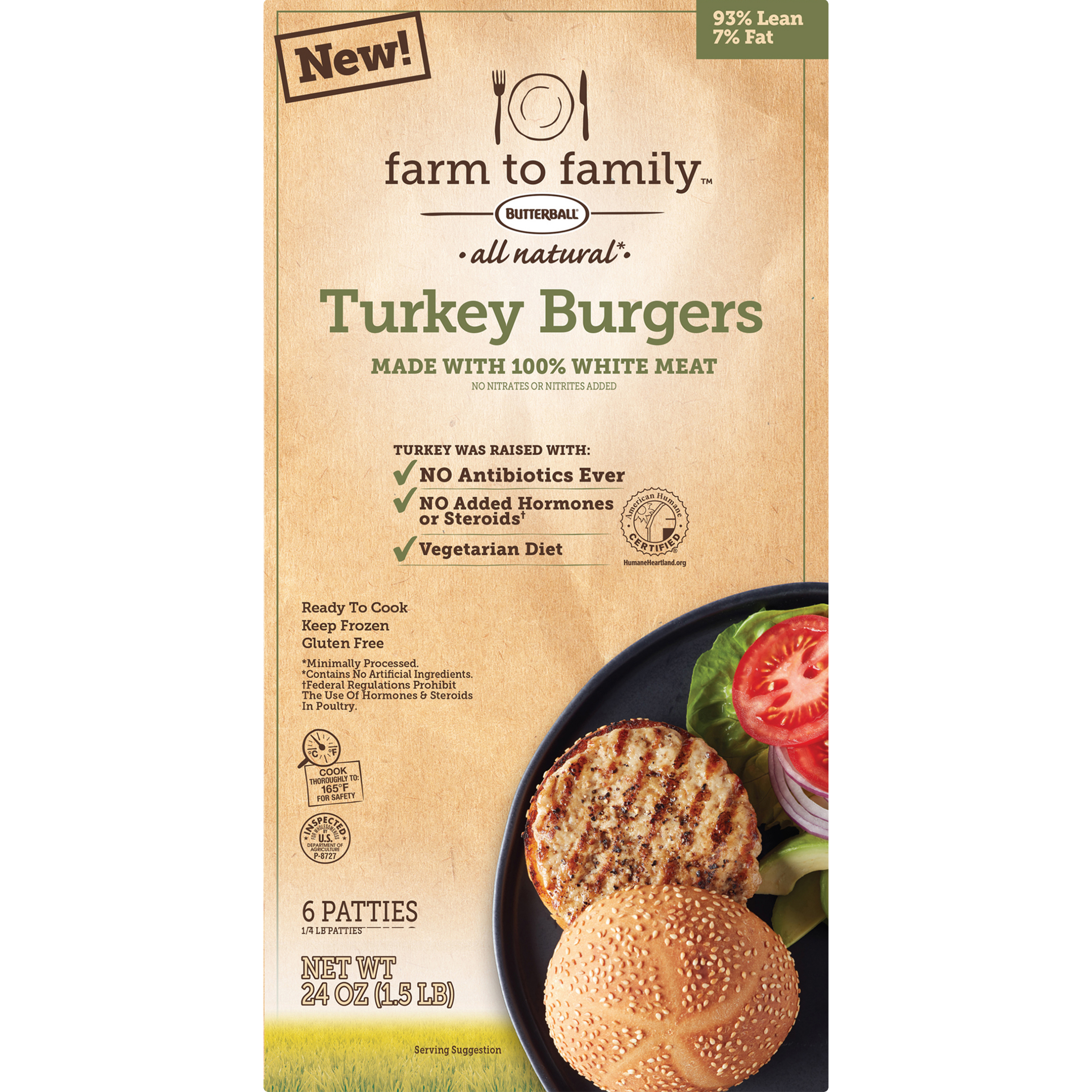 Ewg S Food Scores Butterball Farm To Family Turkey Burgers